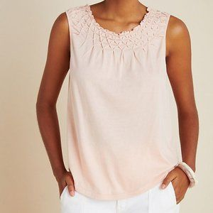 Anthropologie NWT LARGE Smocked Tank Top
